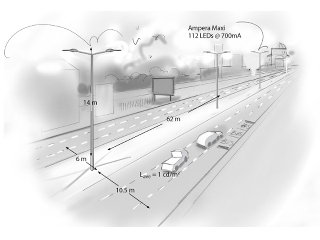 how to light a motor highway drawings