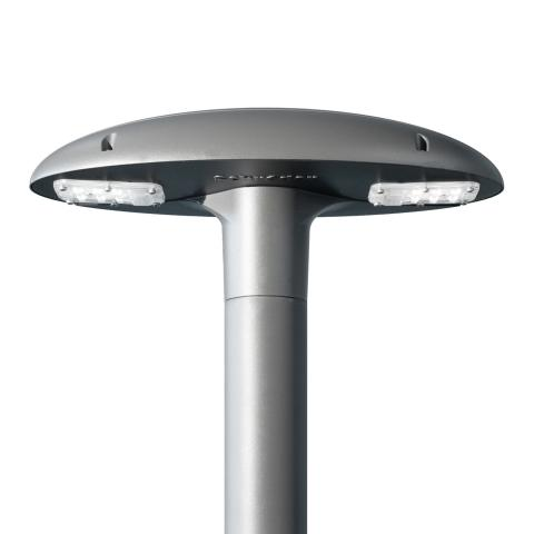 Voldue luminaire for lighting outdoor pedestrian areas in towns and cities.